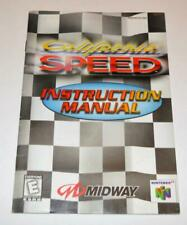 MANUAL ONLY California Speed Nintendo 64 N64 Instruction Booklet