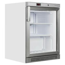 Tefcold UF200G Glass Door White Display Freezer With Static Cooling (boxed New)