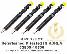 4Pcs Refurbished Rebuilt Delphi EJBR02801D CRDI Diesel Fuel Injector 33800 4X500