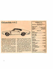 1968 OLDSMOBILE 4-4-2 400/350 HP ~ ORIGINAL SMALLER ROAD TEST / ARTICLE / AD