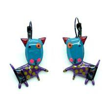Boucles d'oreilles LOL Bijoux Le chien BFLOL027-Bleu LOLILOTA