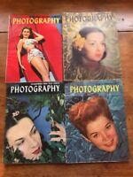 Vintage POPULAR PHOTOGRAPHY MAGAZINES Lot Of 4 1946 Halsman P7