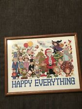 New ListingFinished And Professionally Framed All Inclusive Holiday Cross Stitch Piece