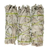 White Sage Smudge Sticks 4 - 5 in 3 Pack Sage Bundle for Cleansing Sage Incense