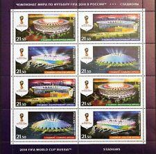 RUSSIA RUSSLAND 2016 Klb 2349-52 2018 FIFA WM WC Stadiums Soccer Fußball MNH