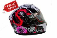 RKS Full Face Ladies Inner Sun Visor Motorcycle Motorbike Scooter Crash Helmet