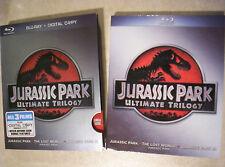 New JURASSIC PARK ULTIMATE TRILOGY Blu-ray Box Set + Slip 500g Satchel+Tracking