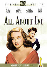 All About Eve, Very Good Dvd, Gregory Ratoff, Anne Baxter, George Sanders, Celes
