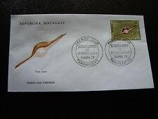 MADAGASCAR - enveloppe 5/4/73 - volva volva  - yt n° 516 - (cy6) (Z)