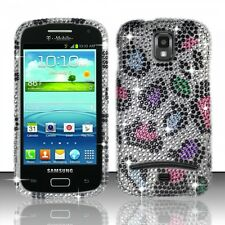 Samsung Galaxy S Relay 4G Crystal Diamond BLING Hard Case Cover Rainbow Leopard