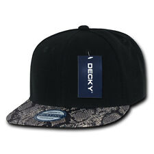 SNAKE SKIN SNAPBACK HAT Cap Black Grey vtg retro animal print brim swag