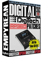DigiTech RP360 Patches Guitar Effects Pedal Tone Presets Amp Settings Win Mac