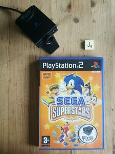 SEGA Superstars PS2 With Eye Toy Camera - Exc.Condition & COMPLETE.