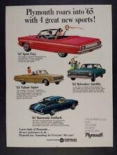 Indy 1965 Plymouth AP Sport Fury Convertible Coupe Factory Photo Ref. #67781