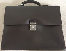 Auth Louis Vuitton Epi Robusto Brown Attaché Briefcase Bag