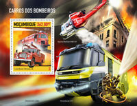 Mozambique Fire Engines Stamps 2020 MNH Trucks Helicopters Land Rover 1v S/S