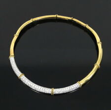 Estate 12.0ct Fg/Vs Diamond 18K White & Yellow Gold Necklace