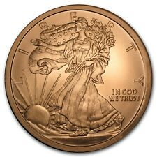 5 Unze Copper Round Walking Liberty Eagle 999,99