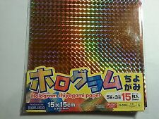 Hologram Chiyogami Paper 15 Sheets with 5 Colors