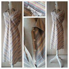 Lovely vintage 70s style striped sleeveless shirt dress sz 12