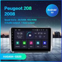 Autoradio 1 din Android 9.0 per Peugeot 208 2013 2018 GPS Navigazione BT Stereo