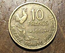 PIECE DE 10 FRANCS GUIRAUD 1951 (125)
