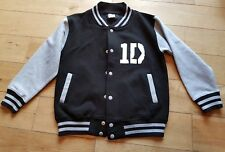 girls age 9-11years black bonber style jacket coat One Direction Jessica 1D
