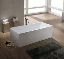 1001 NOW Burano Modern Luxury White Acrylic Freestanding Tub