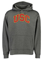 USC Trojans Men's Keppell Performance Pullover Hoodie  - Charcoal