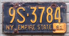 TARGA Originale USA auto NEW YORK 1961 mustang chevrolet cadillac ford raduno