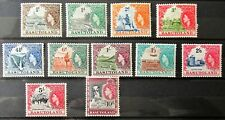 Q9 - BASUTOLAND 1954 COMPLETE SET OF 11 MINT NEVER HINGED ON S/CARD