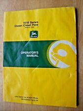 Original John Deere 1610 Series Drawn Chisel Plow Operators Manual