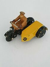 DINKY TOYS 44B AA MOTORCYCLE PATROL WITH RARE 5 MM BADGE 1950