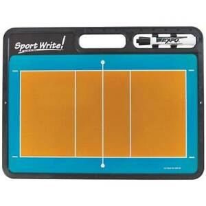 Volleyball Coach's Dry Erase Board Draws Plays Instruction Coaching