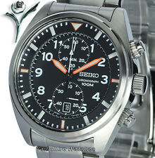 SEIKO ORANGE HAND SPORT CHRONO STAINLESS STEEL BRACELET SNN235P1 2Yr Warranty