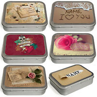 Personalised Love Tobacco Tin 2oz Baccy Pill Storage Cigarette Birthday Gift