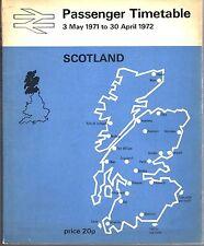 British Rail Passenger Timetable Scotland C/W Network Map 1971 - 1972 9583E