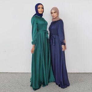Fashion Islamic Abaya Muslim Women Long Maxi Dress Kaftan Jilbab Dubai Caftan