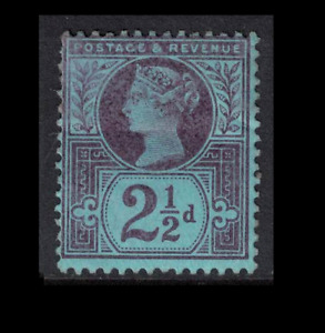 GB stamps - 1887 - jubilee issue 2 1/2d blue/purple mint hinged sg201
