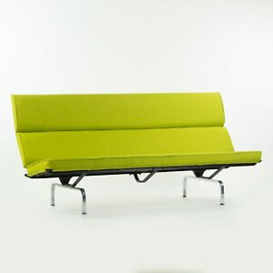 Vintage Eames for Herman Miller Sofa Compact with Lime Green Knoll Upholstery
