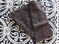 JCrew $225 Ludlow Slim suit pants herringbone windowpane English wool W33 L32