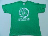 M108 Vintage GILDAN Boston Celtics Reloaded Tip Off Green T Tee Shirt Men's XL