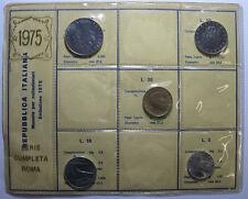 *TRIU* REPUBBLICA ITALIANA SERIE 1975 (5 MONETE) FDC in confezione sigillata