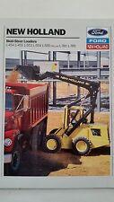 Ford New Holland Skid Steer Dealer's Brochure Lot