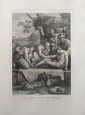 F. ROSASPINA GESU' CRISTO POSTO NEL SEPOLCRO ACCADEMIA BOLOGNA acquaforte 1830