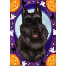 Halloween Garden Flag - Black Schnauzer 122371