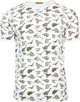 Mens Run & Fly Vintage Retro Kitsch Jurassic Dinosaur T-Shirt