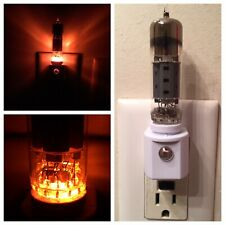 Vintage Radio Ham Tv Vacuum Tube Night Light w/ simulated Amber Led Heater Glow