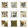 Vintage Feather Silk Square Pillow Case Cushion Waist Cover Sofa Bed Home Decor