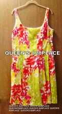 AMERICAN LIVING Womens Stretch Dress Size 16 Orange Green Floral Sleeveless